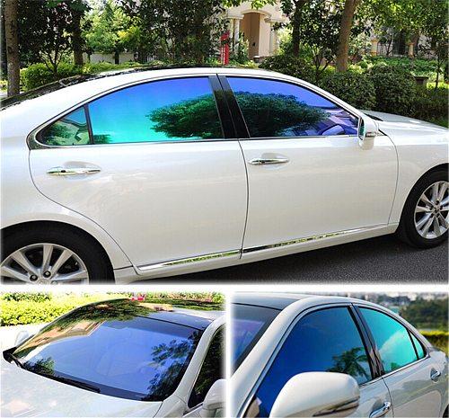 SUNICE Window Tint Car Sun Shade Solar Tint Film VLT55% Car Window Sticker Automobile Windshield 20 x40  Customized
