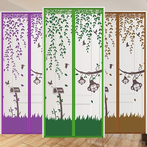 Anti-Mosquito Fly Insect Net Magnetic exterior Screen Doors and Windows Washing Curtains for mesh Mosquito net fabric durable