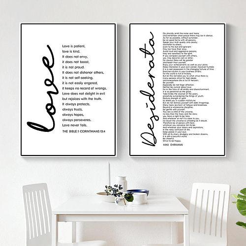Desiderata Print Max Ehrmann Poem Bible Poster Decor Inspirational Word Printable Wall Art Motivational Quote Canvas DecorHD2626