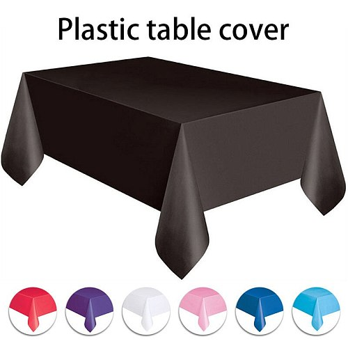 Anti-oil Table Cloth Tableware 137x274cm Solid Color Disposable Tablecloths For Wedding Birthday New Year Christmas Party Decor