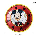 Cartoon Mickey Mouse Theme Cutlery Kids Party Decoration Children Birthday Party Baby Bath Cup Plate Party Supplies Dinner sets