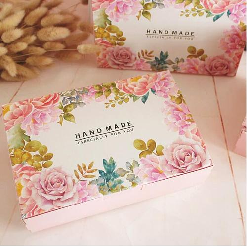 21*14*5cm,custom gift food boxes disposable food containers,wedding favour cake boxes,flower printing gift cardboard boxes