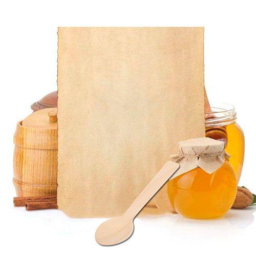 100Pcs/Set Disposable Wooden Spoon Ecofriendly Tableware Bamboo Scoop Coffee Honey Tea Spoon Stirrer Dessert Scoop For Kitchen