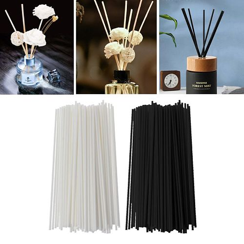 100Pcs 19cmx3mm Fiber Sticks Diffuser Aromatherapy Volatile Rod for Home Fragrance Diffuser Home Decoration   Drop Ship