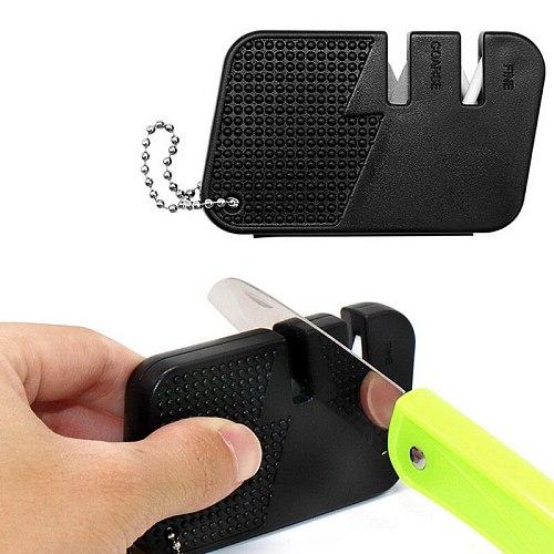 Knife multi Sharp multitool hunt sharpen fish gear hook pocket tool EDC outdoor mini sharpener nail file camp stone