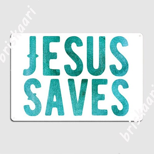 Christian Store Jesus Saves Christian Metal Signs Plaques Mural Customize Cinema Garage Tin sign Posters