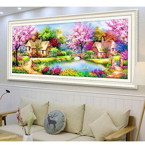 Full drill DIY Diamond Painting Scenery Garden house Diamond Embroidery House Cross Stitch Craft Home Decor Birthday present