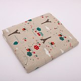 Christmas Tree Deer Printed Tablecloth Nodic Cotton Linen Home Table cloth Dining Room Table Cover Wedding Decors Festival Gifts