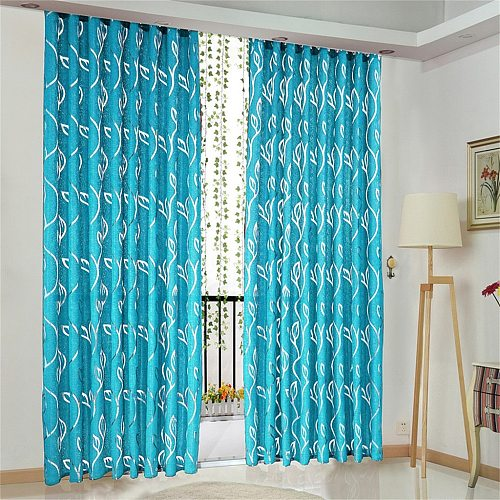 New 1 PCS Vines Leaves Tulle Door Window Curtain Drape Panel Sheer Scarf Valances curtains for the living room kitchen bedroom