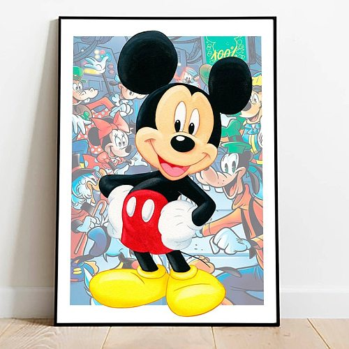 Disney Princess Mickey Mouse Diamond Painting diy Beauty and the Beast Donald Duck Embroidery Kit Cross Stitch Kit Home Decor
