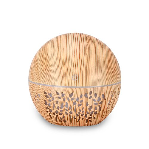 Essential Oil Diffuser Ultrasonic Air Humidifier With Wood Grain Color Changing LED Light Electric Aroma Reed Diffusers