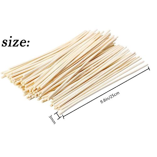 200Pcs Reed Diffuser Sticks Natural Rattan Wood Sticks Essential Oil Aroma Diffuser Sticks for Home Office Aroma Diffuser Sticks