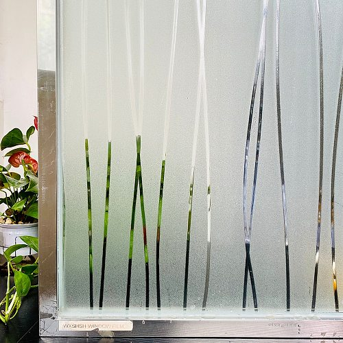 2 Metre Matte Stripe Window Film Stained Glass Decorative Uv Sticker Privacy  Frosted Self Adhesive Film Window Decal for Glass