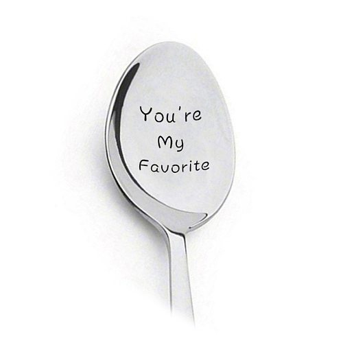 2021 Valentines Day Gift Anniversary Gift for Boyfriend Stainless Steel Spoon Good Morning Handsome Beautiful Girlfriend Present