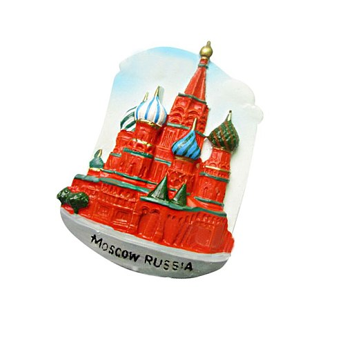 Russia Moscow Church Fridge Magnet Resin Refrigerator Magnetic Sticker Travel Souvenirs Home Decoration