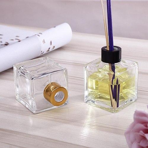 5PCS/lot 110ml Square Air Freshener Decorative Glass Bottle Home Fragrance Essentia Oil Bottle Reed Diffuser for Gift 8*6*3CM