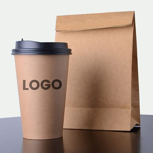 100pcs/pack Disposable Paper Cups 2.5/4/7/8oz Kraft Paper Cups Coffee Milk Cup Paper Cup For Hot Drinking Party Supplies