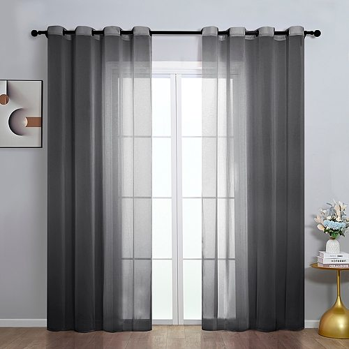 Sheer Window Curtains Tulle Voile Home Fabric Drapes for Living Room Study Bedroom Kitchen