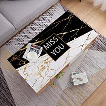 Nordic pvc soft glass printed leather tablecloth Coffee table mat party table deco cover waterproof oilproof dining table cloth