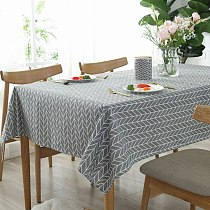 Waterproof Tablecloth Table Cover Flax Covered Cloth Linen Tablecloth  Oil-Proof Wedding Dining Table Cover Tea Table Cloth