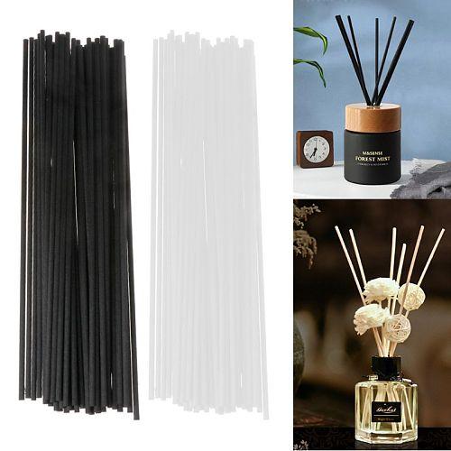 50Pcs 21.5cmx3mm Fiber Sticks Diffuser Aromatherapy Volatile Rod for Home Fragrance Diffuser Home Decoration