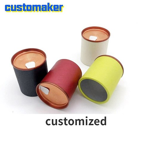 50pcs ECO Friendly Round Paper Container Disposable Tea Packaging Spot Candy  Can Food Cylinder for scented tea