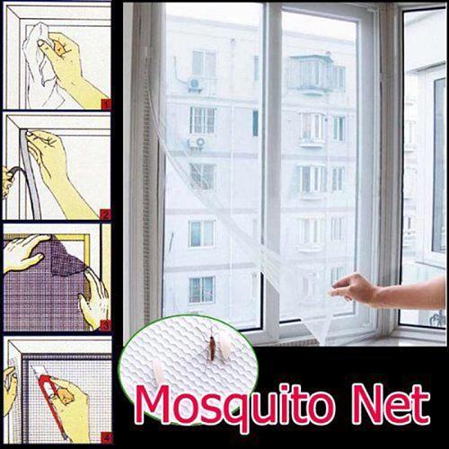 Room Mosquito Anti Mesh Window Screen Anti-mosquito Door Fly Nets Door Indoor Bug Flying Mesh Protector Curtains Adhesive Screen