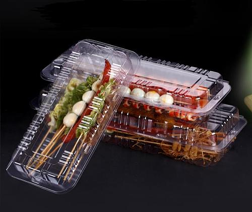 200pcs Disposable Plastic Reusable Take Out Box Meal Storage Food Lunch Box Reusable Containers Home Lunchbox SN3632