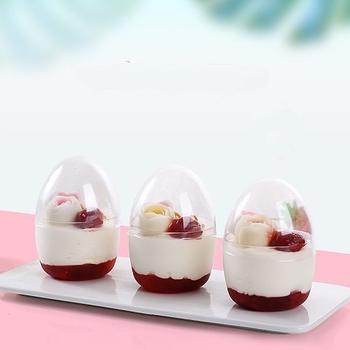 50pcs Net red cake cup ice cream cup round pudding yogurt plastic cup wedding birthday party favors small dessert cups with lids
