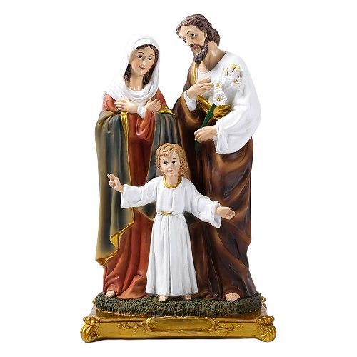 Holy Family Child Jesus the Virgin Mary Saint Joseph Sculpture Religious Catholicism Statue Home Church Decor