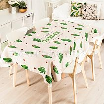 Fresh Natural Cactus Plant Fabric Tablecloth Tablecloth Tea Table Cloth Cover Towel embroidered tablecloth  tablecloth