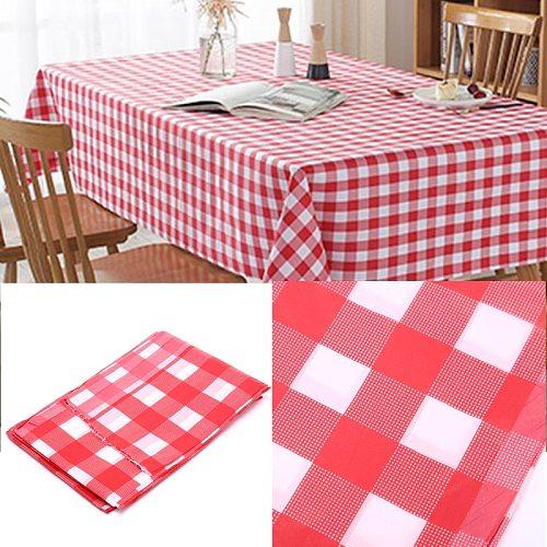 Hot 1PC Disposable Checkered Tablecloth Polypropylene Fiber Tablecloth Party Weddings Outdoor Picnic BBQ Table Cover  180*180cm