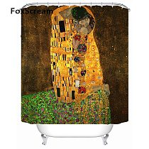 Gustav Klimt Shower Curtain Bath Curtains For Bathroom Waterproof Curtain Shower Frabic Bath Home Decor Shower Curtains or Mat