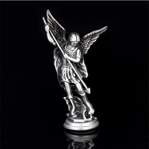 Religious Michael the Holy Angel Zinc Alloy Statue, Michael Angel Statue, Jesus, Christmas, Home Decoration, Christmas Gifts