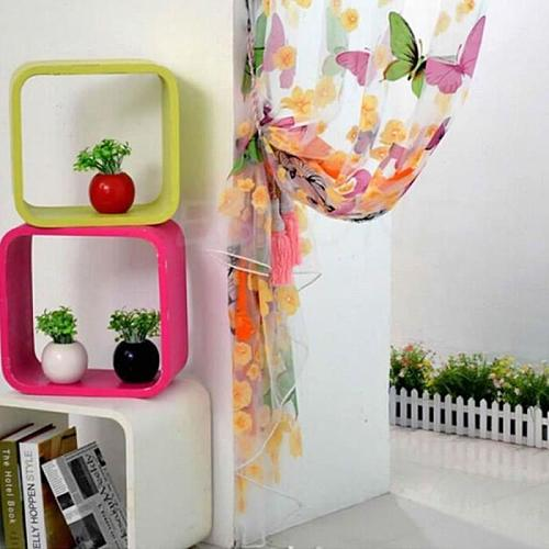 1x2m Romantic Butterfly Transparent Curtains Tulle Casement Door Printed Window Curtain Sheer Voile Curtain Drop Shipping