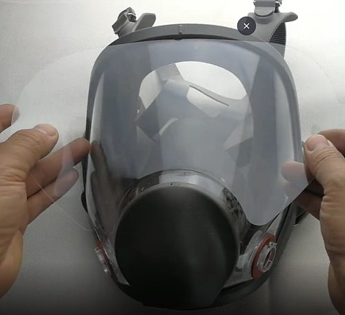 Scratch Resistant Protective Film For 3M 6800 Gas Respirator Full Face Mask Window Screen Protector Painting Spraying Mask