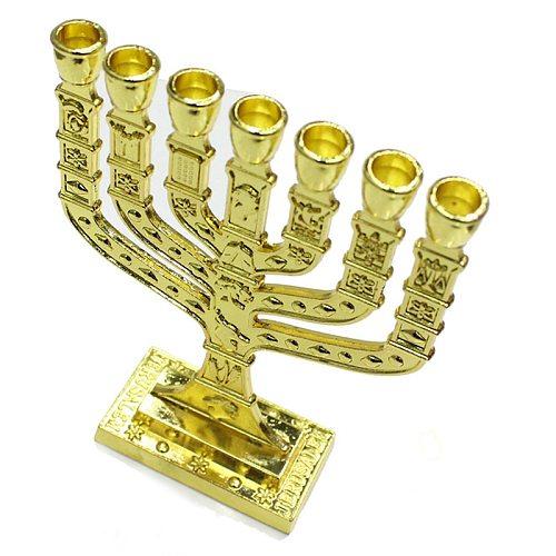 Scented Candles Jewish Menorah Candle Holders Religions Candelabra Hanukkah Candlestick Home Decor Loft Style Decoration