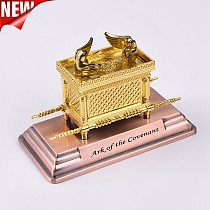 Israel Judaism Alloy Ark Home Classical Decoration Christian Supplies Party Gift Gold Lamp Table Ark Of The Covenant