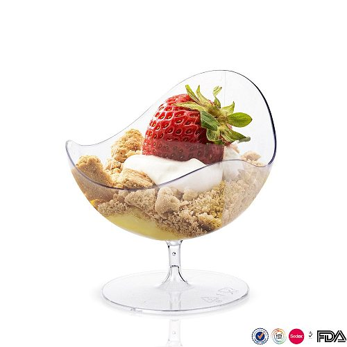 50ml Disposable Tableware Dessert Cup Party Wedding Transparent Plastic Cocktail Cup Drink Cup Western Dessert Container