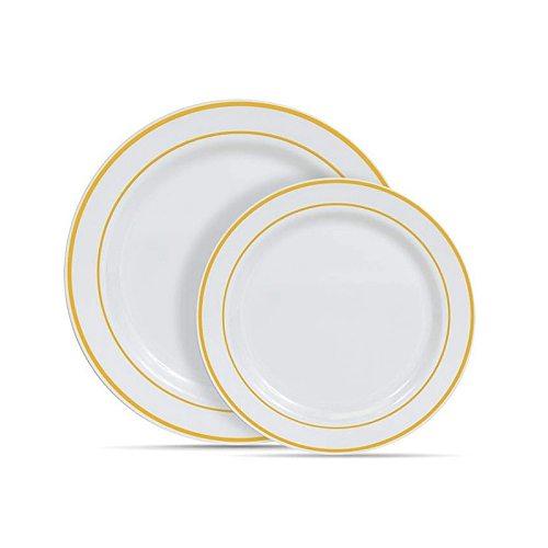6  Disposable Tableware Plate Disc Phnom Penh Silver Edge Rose Phnom Penh Plate Party Dinner Tea Break Plate High-end Kitchenwar
