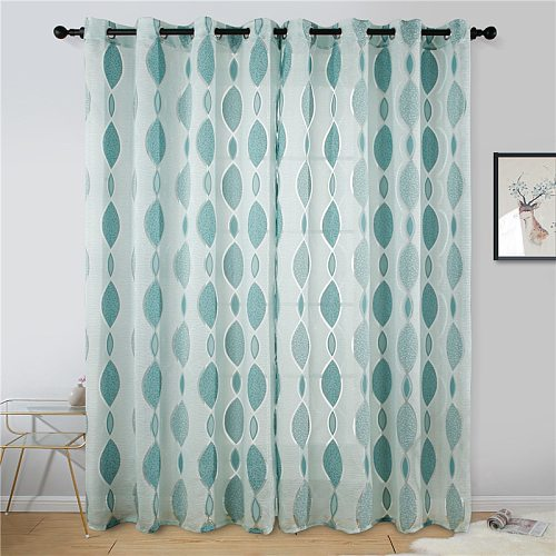 Topfinel Brand New Modern Curtains for Living Room Tulle Curtains in the Bedroom Home Decoration Curtain Drapes Window