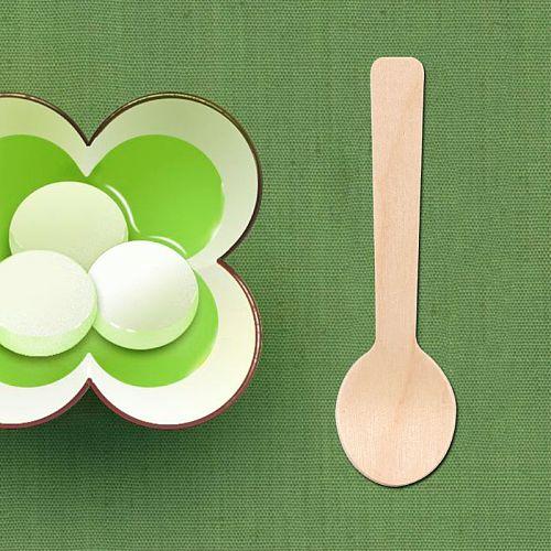 100Pcs/Pack Disposable Wooden Spoon Ice Cream Scoop Coffee Honey Spoon Teaspoon Tableware Mini Cutlery Set Kitchen Accessories