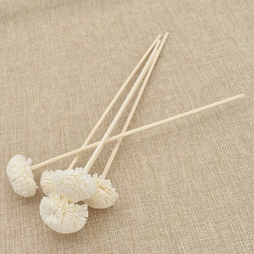 5pcs 3mm Flower Shape Rattan Reed Oil Diffuser Refill Stick Reed Diffuser Replacement Stick DIY Handmade Home Decor