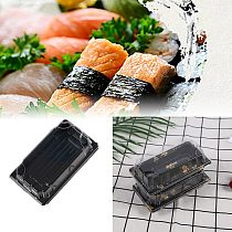 50/100pcs Disposable Sushi Box Packaging Boxes Food Containers Packing Box Fruit Cake Take Out Container Rectangle Takeout Box