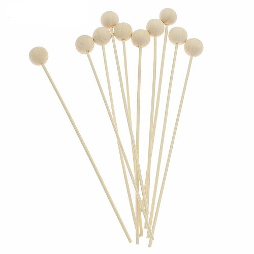 10pcs 3mm Reed Diffuser Replacement Stick Round Wood Rattan Reed Oil Diffuser Refill Stick DIY Handmade Home Decor