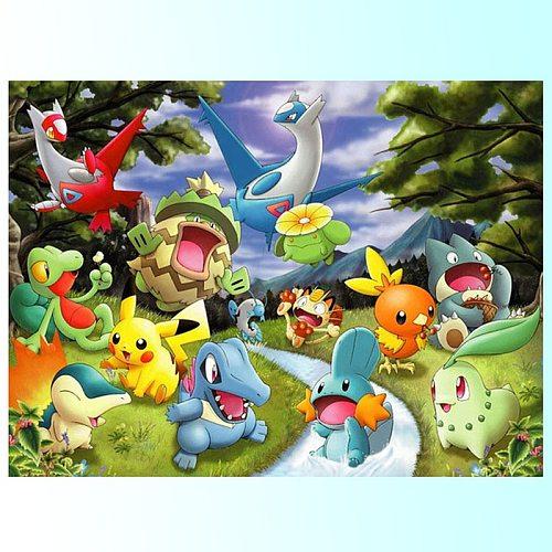 5D Diy Diamond Painting Cartoon pokemon Cross Stitch Diamond Embroidery Full Square Circle Wall Art Wedding decoration