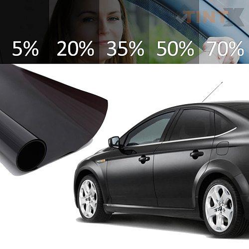 35% 50cm X 300cm VLT Explosion-proof Tint Film Black 76cm X 7m Roll for Auto Car Home Office Glass Window
