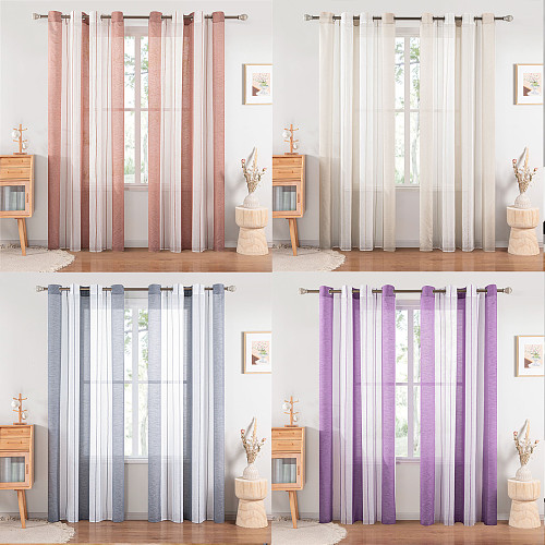 Modern Sheer Curtains Window Tulle Curtains for Bedroom Living Room Home Decortive Stripe Voile Kitchen Curtains for Window