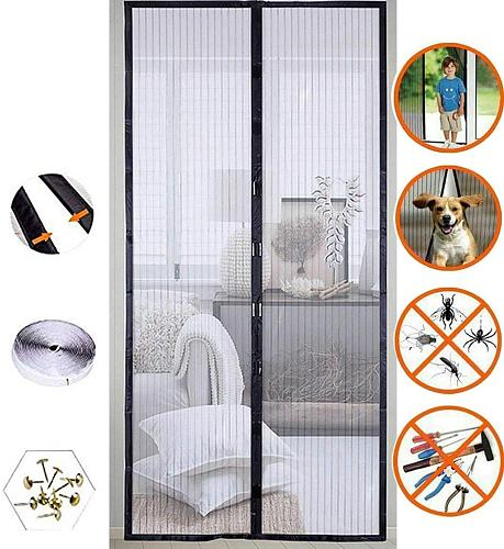 VIP Small size Summer Magnetic Screen Door Curtain Net Anti Mosquito Insect Fly Bug Room Divider Automatic Closing Magnetic Bug