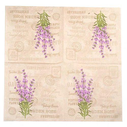 10pcs 33*33cm Lavender theme paper napkins serviettes decoupage decorated for wedding party virgin wood tissues
